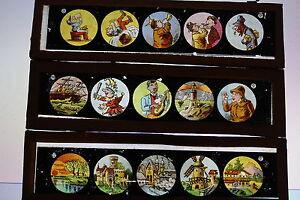 Bundle-3-Plates-Glass-for-Lantern-Magic-1900