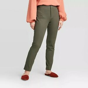 A-New-Day-Womens-Size-6-High-Rise-Skinny-Ankle-Pants-Olive-Green-27-034-Inseam