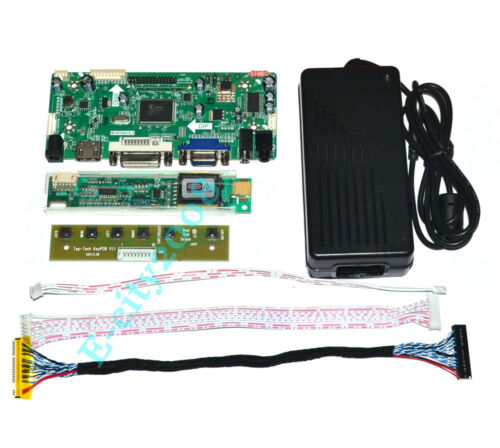M.NT68676.2A HDMI+DVI+VGA+AUDIO LED Controller Board 12V 4A AC Power Adapter