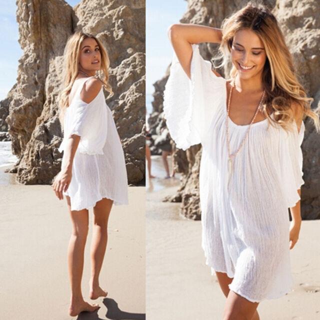 Women Summer Boho Loose Casual Evening Party Sundress Maxi Beach Dress Kaftan