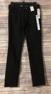 NEW-Mossimo-Mid-Rise-Straight-Super-Stretch-Denim-Black-Jeans-Size-00-24R-NWT