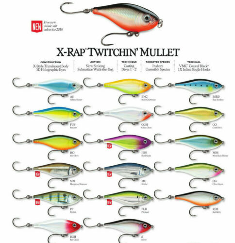 Rapala X-Rap Saltwater Twichin Mullet //// SXRTM06 //// 6cm 9g Choice of Colors