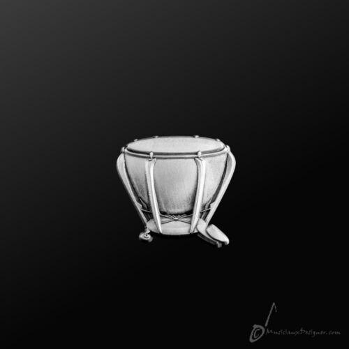 Jewellery Timpani Pin Silver MD Gifts