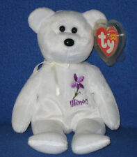 TY ILLINOIS VIOLET STATE FLOWER BEANIE BABY - MINT with MINT TAG