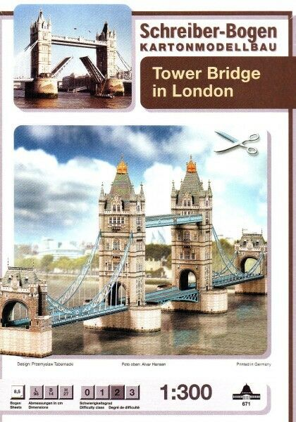 Schreiber-Bogen Card Modelling Tower Bridge London 1:300