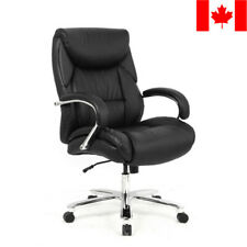 Moustache® Big & Tall Bonded Leather Office Chair Chrome Base, Capacity 400lb