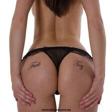 "5 x ""Fuck Toy"" Schriftzug als Tattoo - Sexy Black Fetish Symbol Tattoo Lettering"