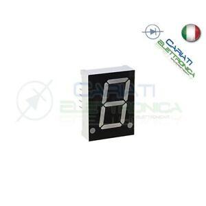 """1 Pezzo Display 0.56/"""" 19mm 7 Segmenti Blu Anodo Comune"""