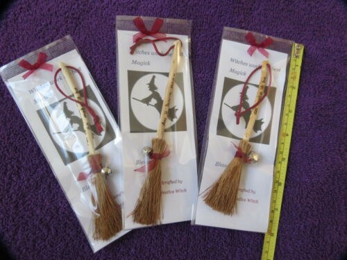 small altar broomsticks ~ witches brooms ~ lots of colour choice here ~ WICCA