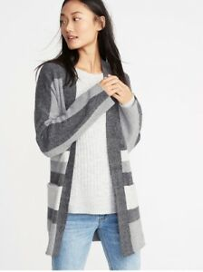 2f2765f7cd Image is loading NWT-Misses-Old-Navy-Striped-Open-Front-Cardigan-