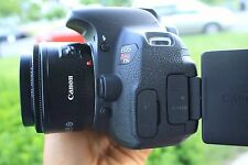 Canon Rebel T5i / 700D 18.0 MP SLR With 18-55mm STM (5 LENSES). Freeshipping!