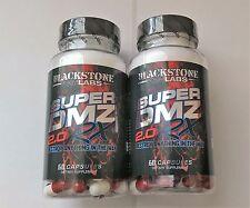 2 BOTTLES SUPER DMZ 2.0 BLACKSTONE LABS 120ct. FREE SHIPPING!!!!