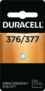 Duracell 377/376 SR66 SR626W 1.5V Silver Oxide Button Cell (1 Battery)
