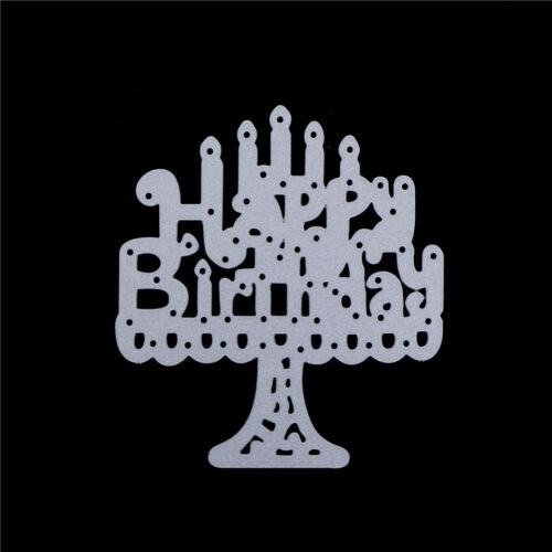 1pc cake candles happy birthday Metal Cutting Dies Scrapbooking Embossing LS