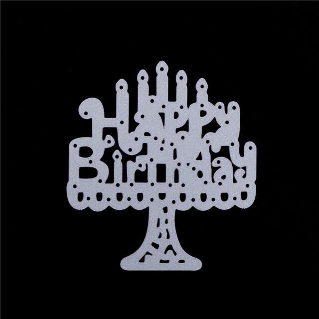 1x candles happy birthday Metal Cutting Dies Scrapbooking Embossing craft、Fad