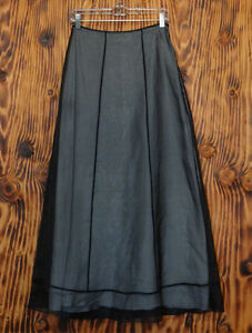 90s-Skirt-Privilege-Goth-Black-Sheer-Full-Length-Skirt-Size-4