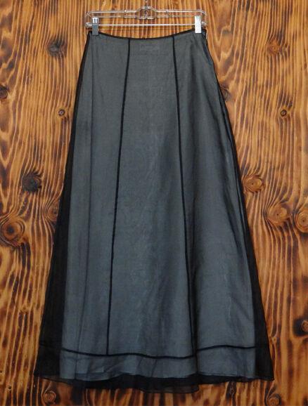 90s Skirt Privilege Goth Black Sheer Full Length Skirt Size 4