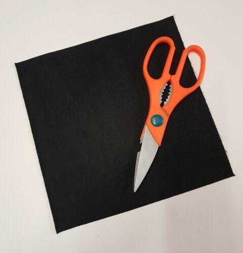 "BLACK Sticky Back Self Adhesive Acrylic Felt Sheet 225mm x 225mm 9/"" x 9/"""