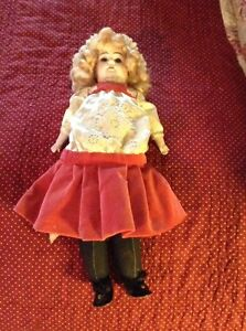 Antique-Marked-Alma-doll-cloth-body-bisque-head-with-clothes-Germany