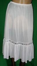 NOSTALGIE Petticoat 1950er Perlon/Nylon HALB-Unterkleid-Unterrock Gr.44 *NEU(618