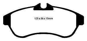 Dp41435r Almohadillas de Freno Delanteras Yellowstuff EBC para Citroen C2 C3 C3