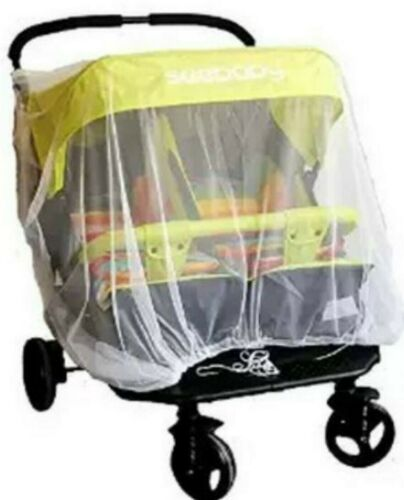 Mosquito fly insect sun dust protect cover net mesh Twin Pram Stroller