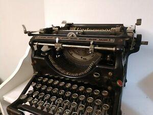 Underwood Typewriter Model 5 1929 Vintage Art Deco Steampunk Antique
