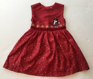Minnie Mouse Christmas Dress.Details About Euc Disney Store 4 4t Red Gold Minnie Mouse Holiday Fancy Christmas Dress