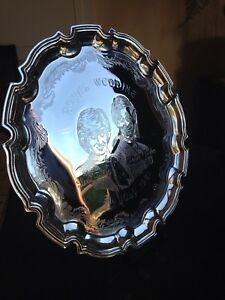 Royal wedding Lady Diana & Prince Charles  chippendale tray.