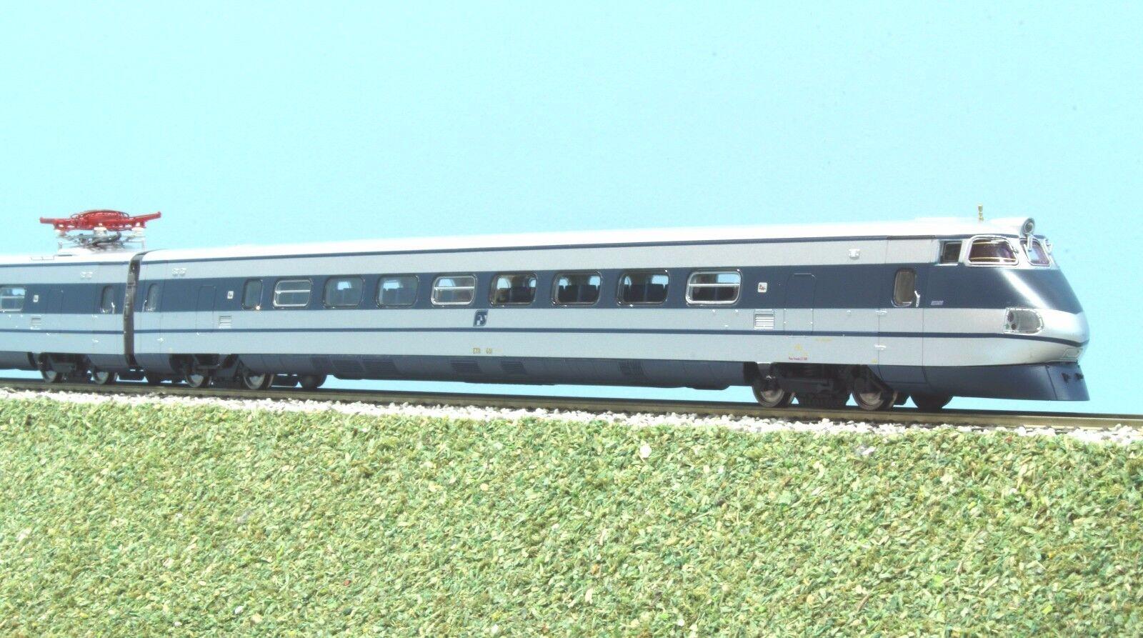 RIVAROSSI  HR 2513 FS convoglio ETR 401 blu argentoo logo inclinato Digital sound