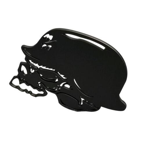 Metal Mulisha Skull Aluminum Grille Badge  Matte Black Finish US Made