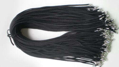 Wholesale 10pcs en Daim Noir en Cuir Chaîne Collier Cordon Bijoux Finding 47 cm