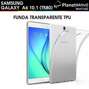 buy online 72101 60b62 Details about Cover Transparent Silicone TPU Samsung Galaxy Tab A6 2016  T580 10.1