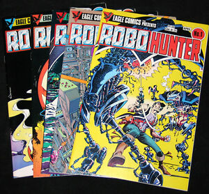 1984-Eagle-Comics-Series-ROBO-HUNTER-1-5-VF-Copies