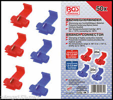 BGS - Scotch Lock Cable Splitter Set 25 x Blue 25 x Red - Pro Range - 80757