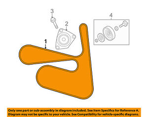 Peachy Nissan Oem 07 12 Sentra Serpentine Drive Fan Belt 11720Et00A Ebay Wiring 101 Swasaxxcnl