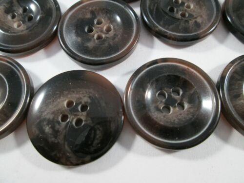 Botón botones 20 unidades tonos marrón manchas 23 mm grande #3398#