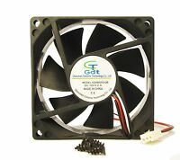 80mm 25mm Case Fan 12v 47cfm Pc Cpu Computer Cooling Ball Brg 3pin 305