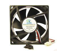 80mm 25mm Case Fan 12v 47cfm Pc Cpu Computer Cooling Ball Brg 3pin 305