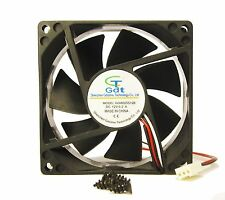 80mm 25mm New Case Fan 12V 47CFM PC CPU Computer Cooling Ball Brg 3pin 305*