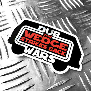 DUB-WARS-the-wedge-strikes-back-car-sticker-95mm-x-60mm-oilcan-star-wars-decal