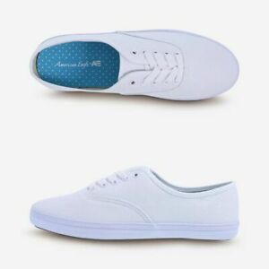 Details about City Sneaks American Eagle Women's Bal White Classic Canvas Sneakers Shoes