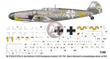 "Peddinghaus 1/48 Bf 109 G-6 ""Karaya"" Markings Erich Hartmann Russia 1943 2232"