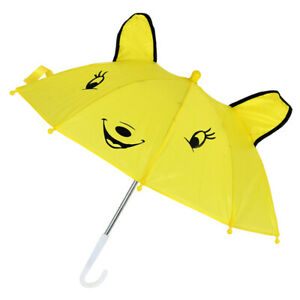 2X-Children-Panda-Pattern-Mini-Yellow-Umbrella-Playing-Toy-I1R4