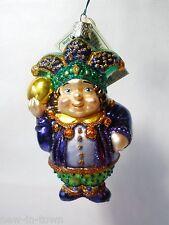 (1) Old World Christmas OWC *MARDI GRAS JESTER* Ornament 24025 NWT *Free US Ship
