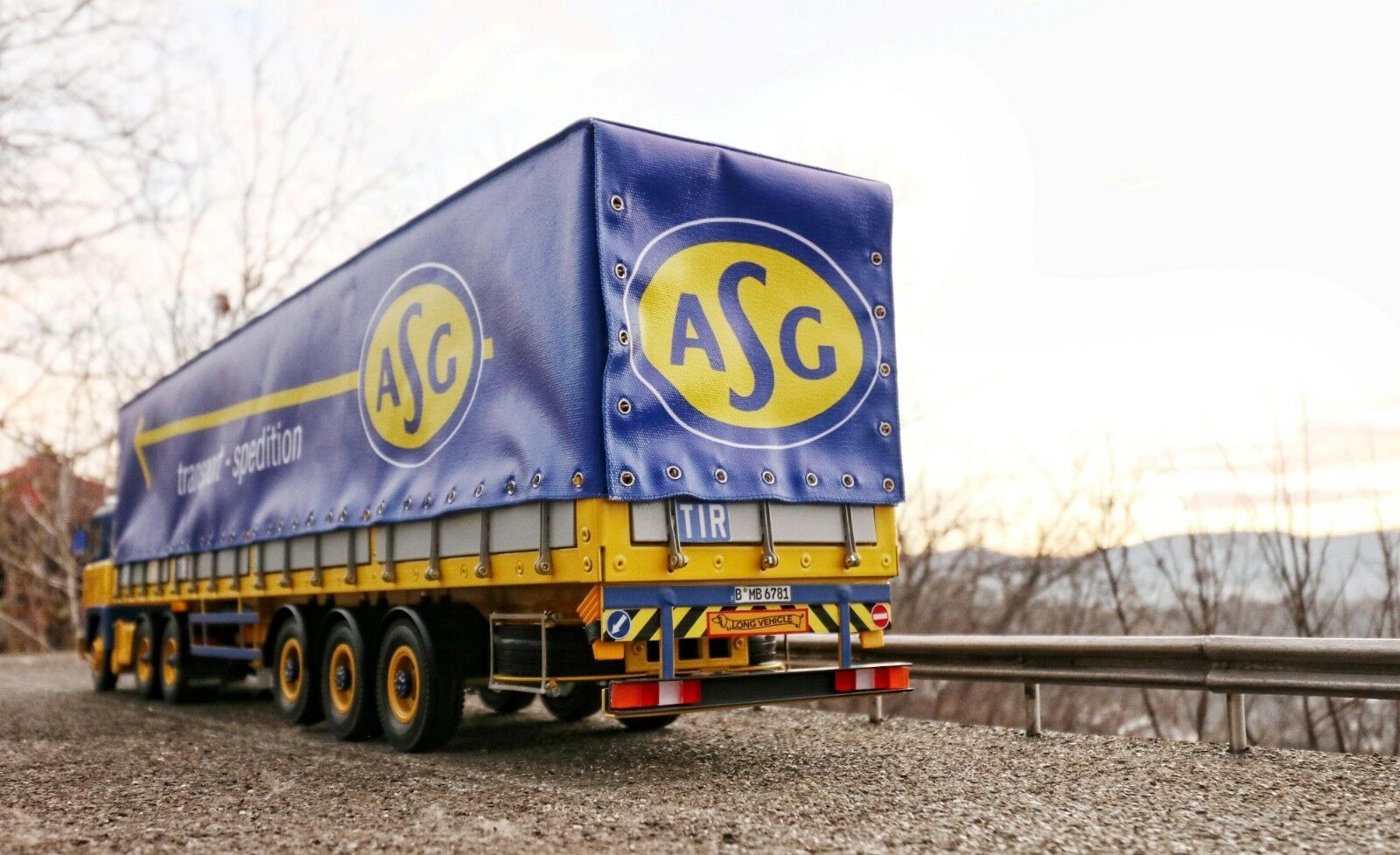 MNtrailers CANVAS TRAILER 1 18 for SCANIA ASG SPEDITION ROAD KINGS