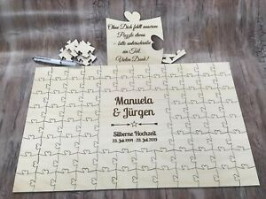 Personalised-silver-wedding-anniversary-guestbook-puzzle-keepsake-guest-book