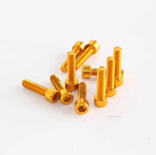 M5 x 20mm BULLONI ORO IN ALLUMINIO ANODIZZATO Bullone 25mm GOLD M5 x 20 Viti Tappo Testa