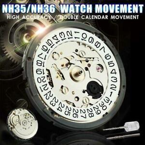 Nh36-nh35-Genauigkeit-Automatik-Mechanische-Uhr-Armbanduhr-Uhrwerk-Day-Date-Disc-s8o0