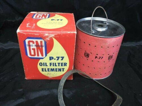 VINTAGE GN GOULD NATIONAL OIL FILTER ELEMENT P-77 NOS FITS BUICK 1949-1953